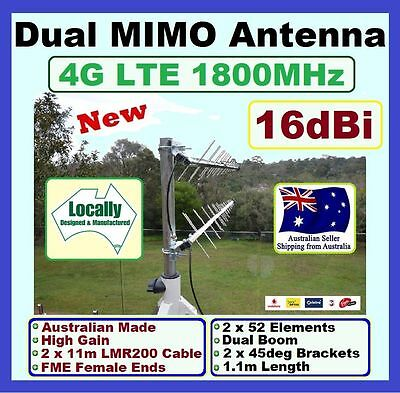 16dBi 11m Dual MIMO GSM/3G/4G/LTE Antenna, Telstra, booster, repeater, yagi