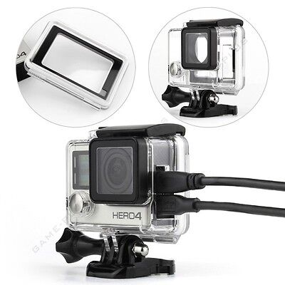 Wire Connectable Skeleton Protective Housing w/ Touch Backdoor for GoPro Hero 4