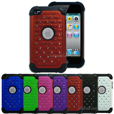 NEW Diamante Tough Impact Case for Apple iPod Touch 4 4th Gen 4G Cover