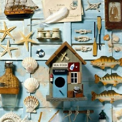 4 x Paper Napkins - Nautical - Ideal for Decoupage / Decopatch
