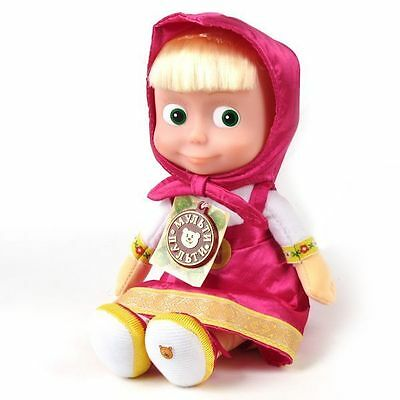 29 cm Talking singing toy doll Masha and the Bear 6 phrases + 1 song 11,4 inch