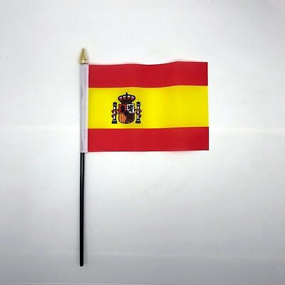 Table Desk Top Flag Spain España Flags Polyester Without Base 100% To Charity UK