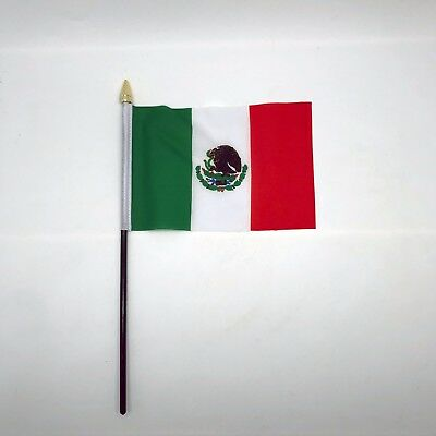 Table Desk Top Flag Mexico Flags Polyester Without Base