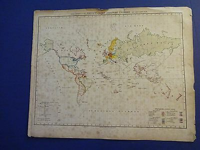 Hand-Colored Carl Flemming map/Christian States Over the World Circa 1850