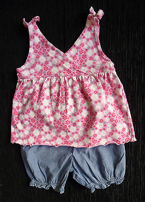 Baby clothes GIRL 9-12m NEXT dress-style top H&M cotton shorts SEE MORE IN SHOP
