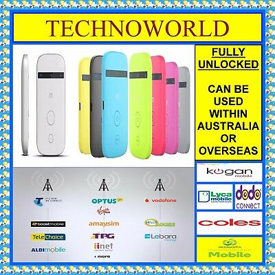 Unlocked Zte Mf90 4G/3G Wifi Modem+Use Telstra/optus/aldi/boost/vodafone/amaysim