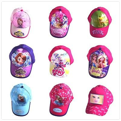 Kids Girls Toddlers School Sports Baseball Cap Hat Costume Play Accessory  2-8Y
