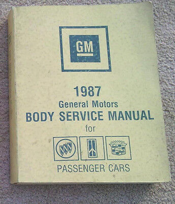 1987 - Buick Grand National - GM Body Service Manual -  shop book - Monte Carlo
