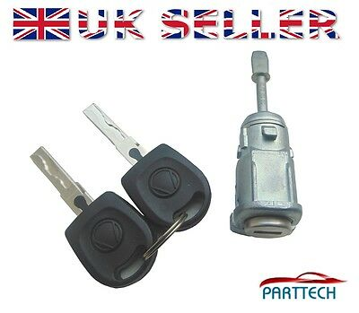 VW AUDI SKODA COMPLETE DOOR LOCK SET with 2 KEYS FRONT RIGHT OSF DRIVER SIDE