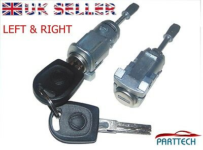 VW AUDI SKODA COMPLETE DOOR LOCK SET + 2 KEYS FRONT RIGHT and LEFT