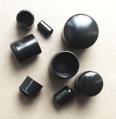 Ferrules Plastic End Caps For Rods, Chair Feet, Cables, Wires / Black