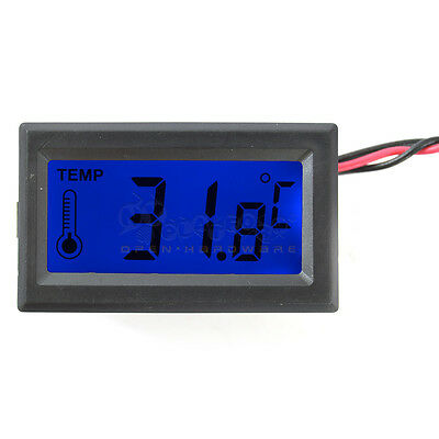 Digital PC Mod Temperature LCD Thermometer Meter Gauge with Water-proof probe
