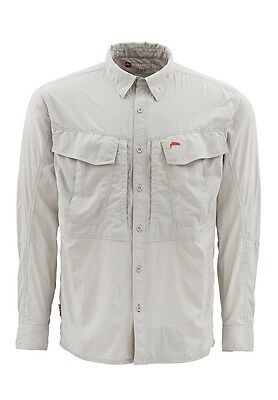 Simms GUIDE Long Sleeve Shirt ~ Grey NEW ~ Size XL ~ Closeout