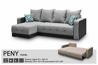 Universal Corner Sofa Bed- Peny -Sleep Function,bed Container - Fabric