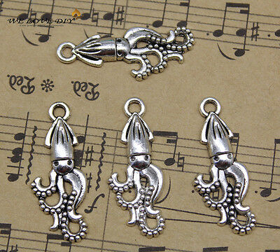 20//60//100pcs Retro Jewelry Making DIY Lovely Wolf alloy charms pendant 15x14mm