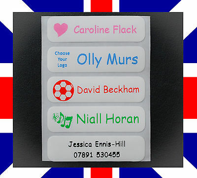 Iron on Name Labels Personalised School Uniform Clothing Tags Waterproof