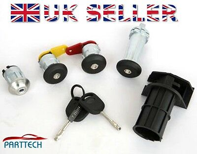 FORD KA 1996-2008 COMPLETE DOOR LOCK SET with 2 KEYS - FULL SET - NEW