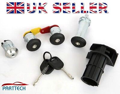 Ford Fiesta 1989-2002 Complete Door Lock Set + 2 Keys - Full Set - New