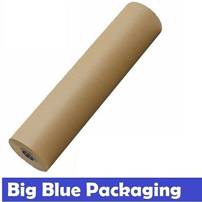 600mm x 235m Brown Packaging Kraft Paper Roll 80GSM Packing Wrapping Craft gsm