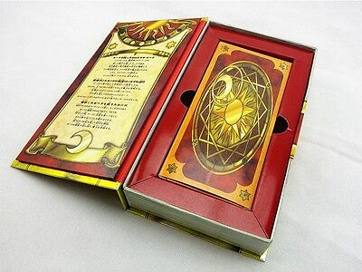 Anime 56 Piece Cardcaptor Sakura Clow Cards Set With Gold Clow Book New in Box