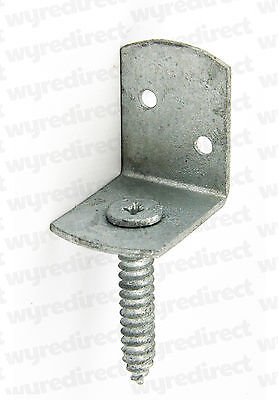 10x L Shaped Fence Post Brackets Screw in Screw Attached Fence Clip Galvanised