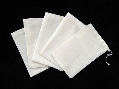 100 PCS 4x6 Cotton Muslin Drawstring Reusable Bags Packing Bath Soap Herbs Tea