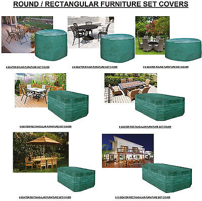 Premium Outdoor Garden Furniture Covers Protector Waterproof 4,6,8 & 10 Seater