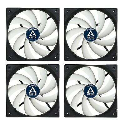 4 Pack of Arctic F12 PWM 120mm PC Case Fan - Rev 2 - Silent, High performance
