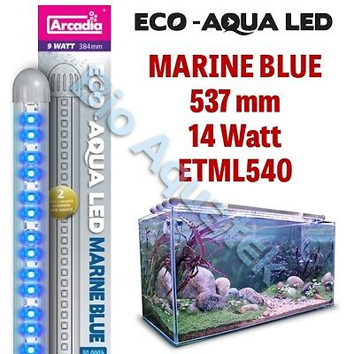 Arcadia Eco Aqua LED Aquarium Lamp / Light Strip - Marine Blue 537mm 14w ETML540