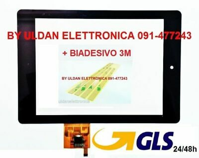 "TOUCH SCREEN Acer Iconia A1-810 VETRO Digitizer 7,9""  Nero + BIADESIVO"