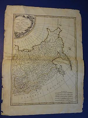 NICE,Colored Map /Eastern Part of the Russian Emp.- Rigobert Bonne 1771