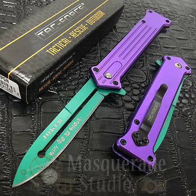 """Tac Force Spring Assisted Outdoor Pocket Knife Joker """"Why So Serious"""" TF-457PGN"""