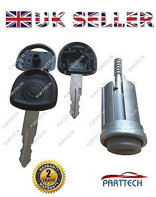 VAUXHALL ASTRA CORSA MERIVA ZAFIRA TIGRA COMBO IGNITION BARREL with 2 KEYS...