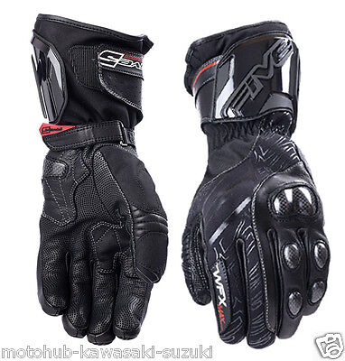 FIVE WFX Max Waterproof Motorcycle Gloves Black Racing Winter Warm Riding