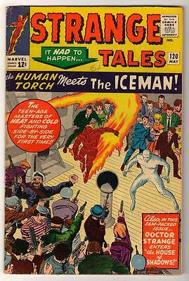 MARVEL STRANGE TALES 120  KIRBY DITKO FN 6.0  Human torch FF4 1964