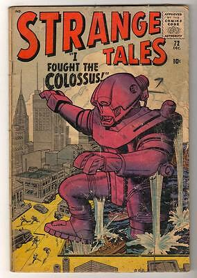 Marvel Comics G+ STRANGE TALES #72 Pre Hero look protype Colossus x men