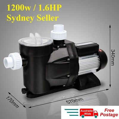 NEW 1.6HP 1200W Swimming Pool Pump Electric Self Priming Spa Water Filter