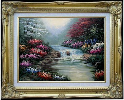 Framed Quality Hand Painted Oil Painting, Still Water, 12x16in