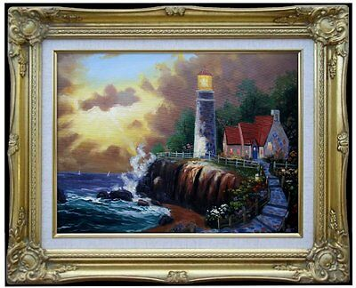 Framed Quality Hand Painted Oil Painting, The Light of Peace, 12x16in