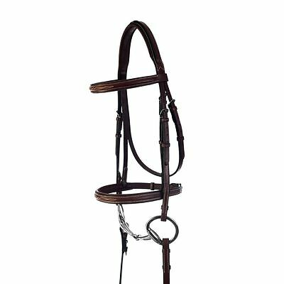 Kincade Fancy Stitched Padded Bridle - Brown - Size: HORSE - #38687