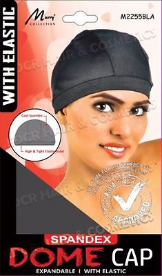 Murry Collection Breathable With Wide Elastic Band Spandex Dome Cap No M2255BLK
