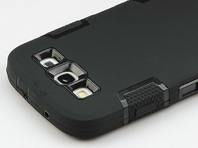 Shockproof Dirt Proof Hybrid Hard Case Cover For Samsung Galaxy S3 i9300 Black