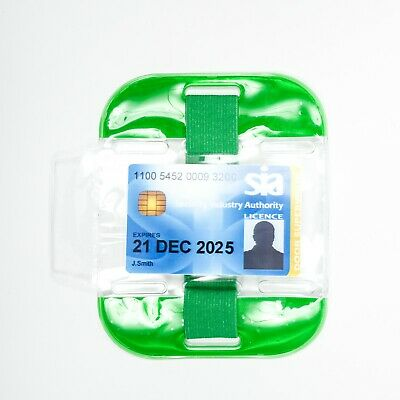 High Visibility Security Arm Band ID Holder - Green