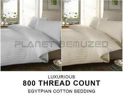 Luxury Egyptian Cotton 800 Count Bedding - Duvet Cover, Fitted, Flat, Pillowcase