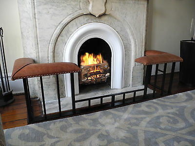Club Fender Fireplace Bench: Square Dip with Prestige Baluster Set