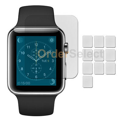 10X NEW Ultra Clear HD LCD Screen Protector for Apple iWatch Watch 1st Gen 42mm