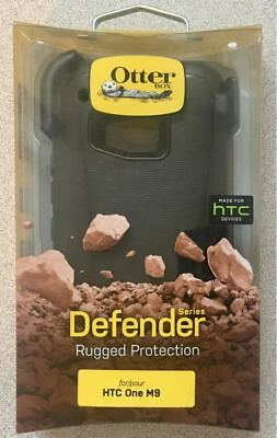 Brand New Original Otterbox Defender Case for HTC One M9 - with Holster - Black!