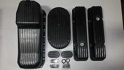 Small Block Chevy 350  Black Dress Up Kit Fits Hot Rod Camaro Nova  Street Rod