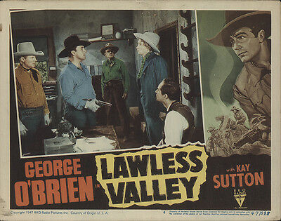 Lawless Valley 1947 Original Movie Poster Action Adventure Romance