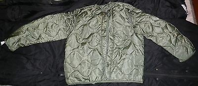 EX COND GENUINE Military LARGE OD Quilted Cold Weather COAT LINERS M-65 066528-